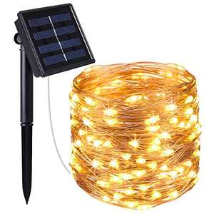 10M 100 LED Solar powered string lights - Just £6.74 (Prime) £10.73 (Non Prime) Sold by AMIR UK and Fulfilled by Amazon