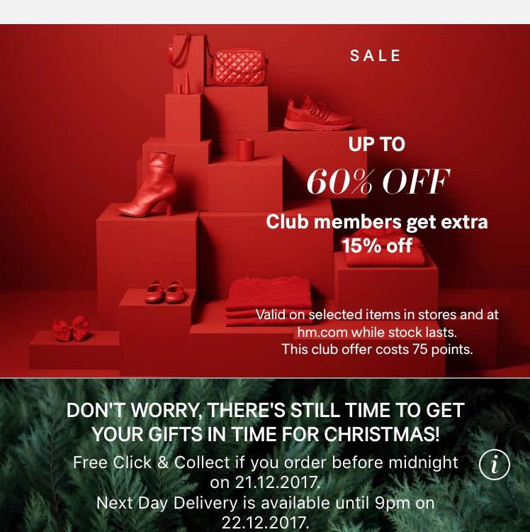UPTO 60% off H&M