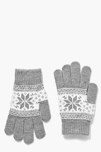 Martha Fairisle Touch Screen Gloves was £4 now £2 with Free Next Day Delivery (w/code) in Boohoo's upto 50% Off Sale