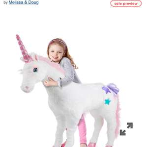 Melissa & Doug Giant Unicorn £55.99 was £79.99 at Mothercare
