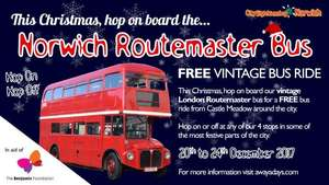 FREE Christmas VINTAGE BUS RIDE NORWICH