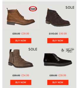 Upto 65% off Mens boot with free express delivery @ soletraderoutlet