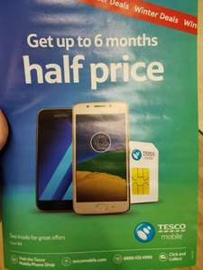 Tesco Mobile Winter Deals - Up to 6 months half price