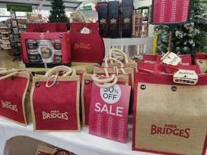 50% on Bridges hampers and other Christmas food Wyevale