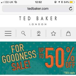 Ted Baker up to 50% sale