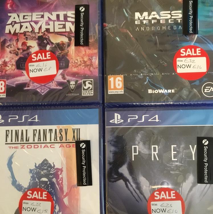 Asda sittingbourne PS4, XBOX ONE & 3DS Games Sale e.g Agents mayhem PS4 £8