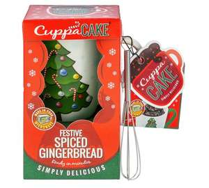 CuppaCake - Gingerbread Gift Set (inc Mug, Mini Whisk & Cake Mix) was £9.99 now £3.99 w/code C+C @ Argos