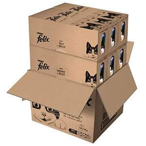Felix Mixed Selection in Jelly Cat Food, 120 x 100 g RRP £34 now £24.23 delivered Amazon s&s