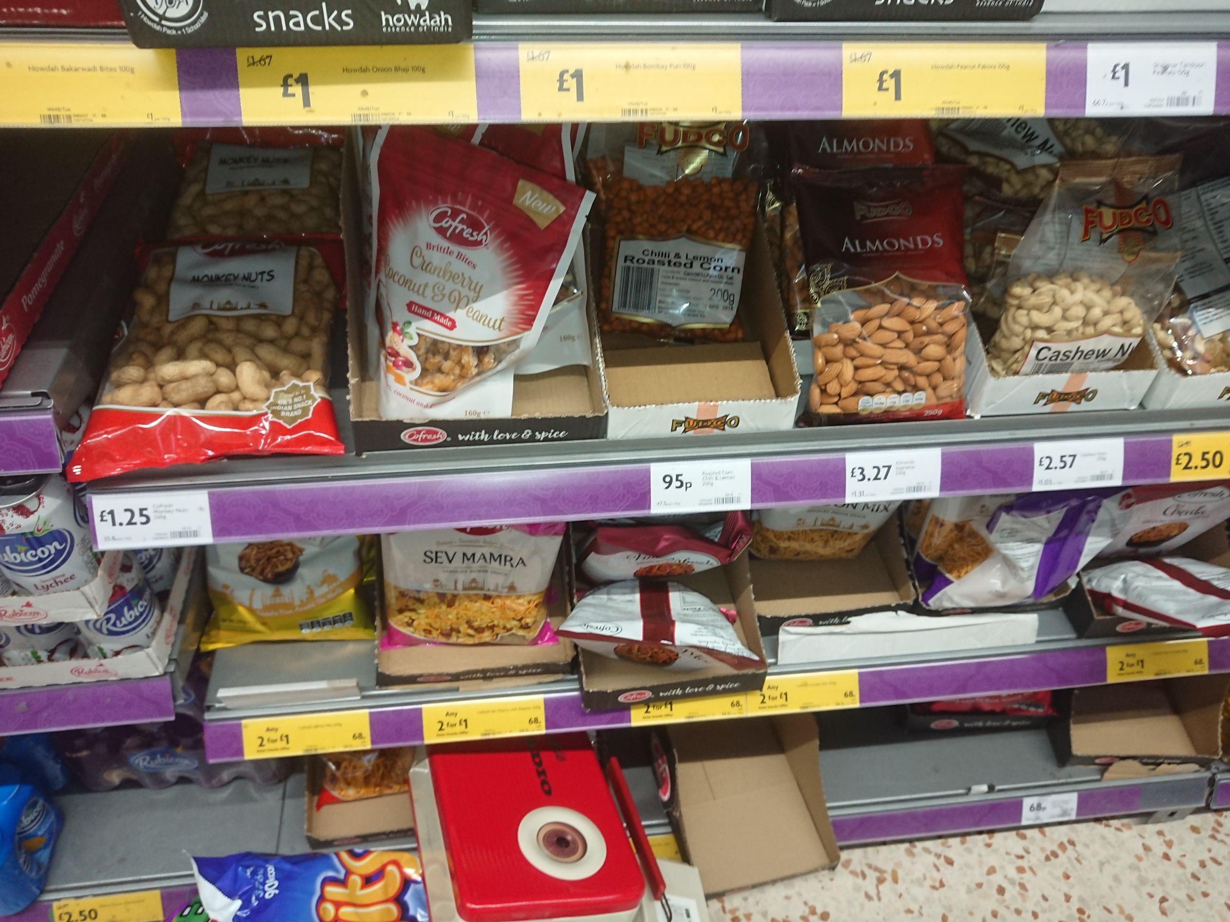 Cofresh Asian Snack Mix Various Flavours Balti Vindaloo London etc  £1 for 2 packs 200g each Morrisons