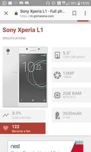 Sony Xperia L1 - £79.99 @ o2 ( no top up required online)