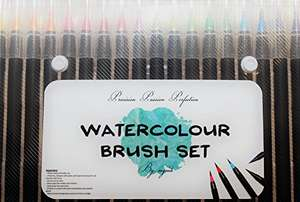 Stocking Filler? Watercolour Brush Pen Set - RRP £34.99 reduced to £5.99 and christmas delivery (Prime / £9.98 non Prime) - Sold by Evaluan and Fulfilled by Amazon