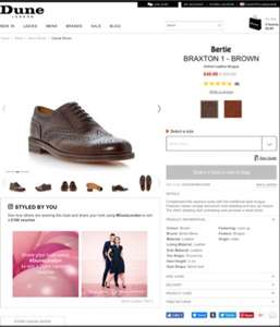Bertie Braxton brogues reduced from 100 to 40 size 7 & 8 only. Dune London site.