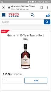 Graham's 10 year tawny port currently down to £13.50 (usually £20) at Tesco. Online and in-store