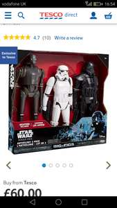 "Starwars rogue one 20"" figures £19.50 @ Beaumont Leys store Tesco"
