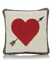 Lovely heart motif cushion £4 George