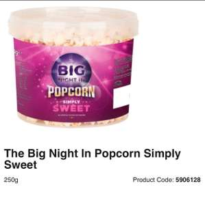Sweet and salty popcorn tub or simply sweet