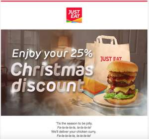 25% off just eat - check email