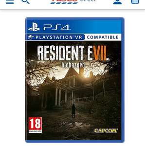 Resident evil PS4 Tesco direct £15