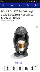 Nescafe Dolce Gusto Coffee Machine £28 @currys