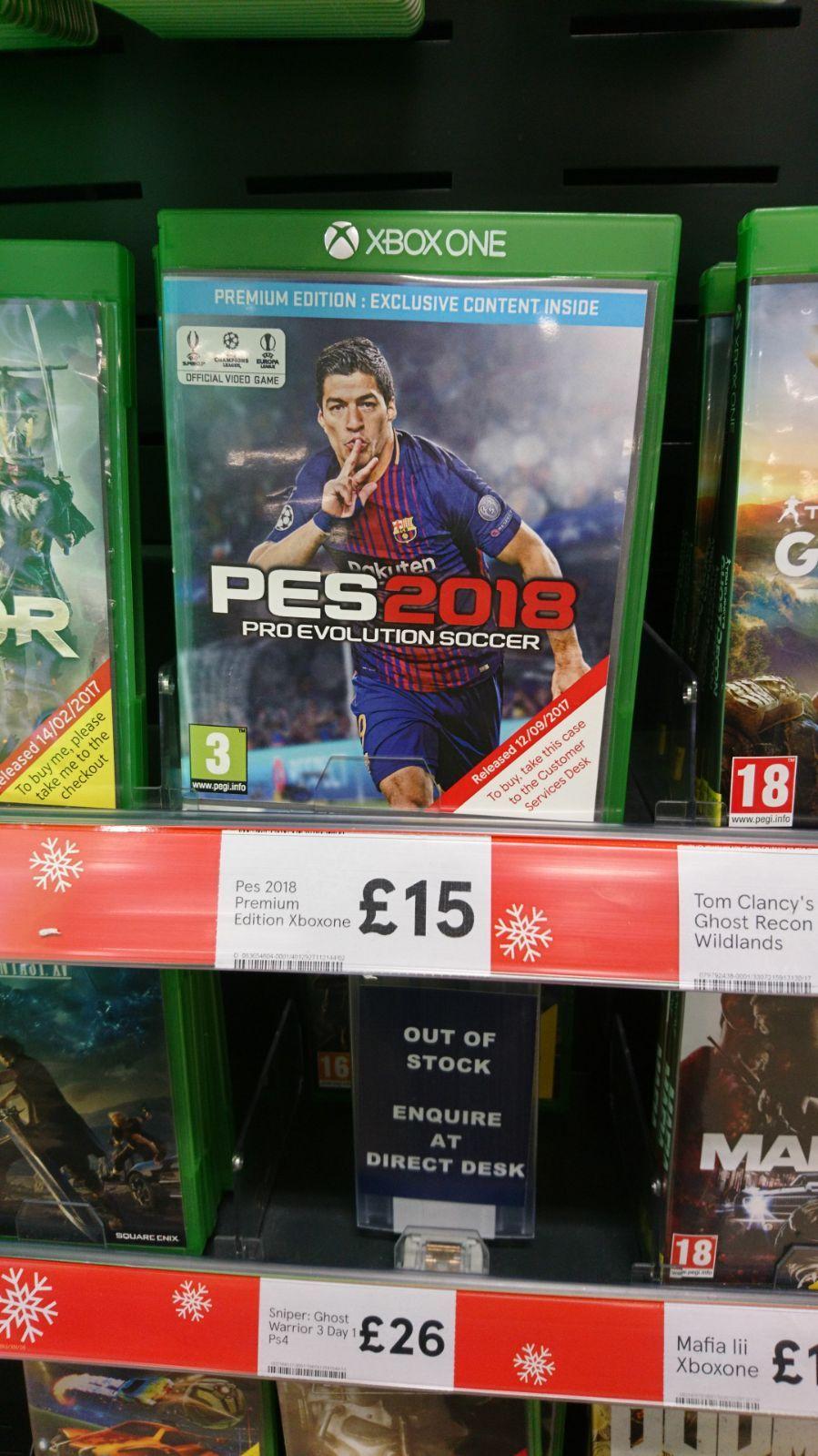 PES 2018 Xbox £15 instore @ Tesco