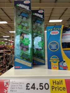 Tesco Thomas & Friends Minis 5 Pack Glow in the Dark Exclusive to Tesco Half Price £4.50