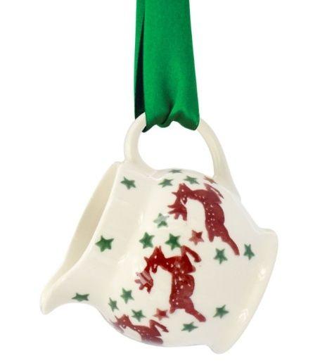Emma Bridgewater Mini Reindeer Jug Decoration (RRP £14.95) now £5 + £5 del