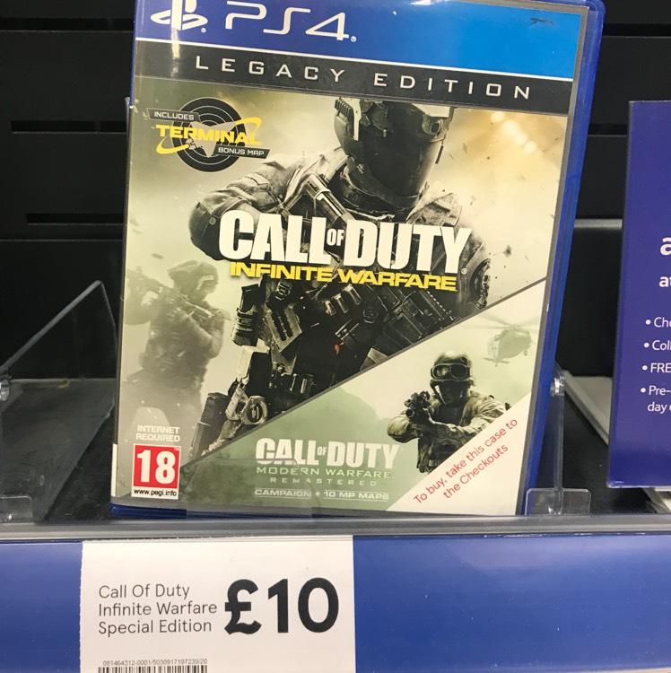 Call of Duty Infinite Warfare Legacy Edition PS4/XboxOne £10 instore @ Tesco