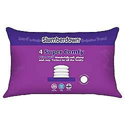 Slumberdown Super Comfy 4 Pack Pillow - Was £20, now £10 @ Tesco Direct