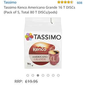 Tassimo 5 pack (80 pods) £14.25 Amazon Prime free delivery different flavours available works out £2.85 a pack