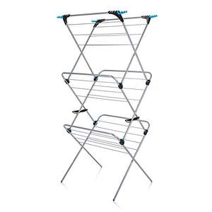 Minky 3 Tier Plus Indoor Airer, 21m drying space in Silver now £15 Del Prime / £19.75 Non Prime