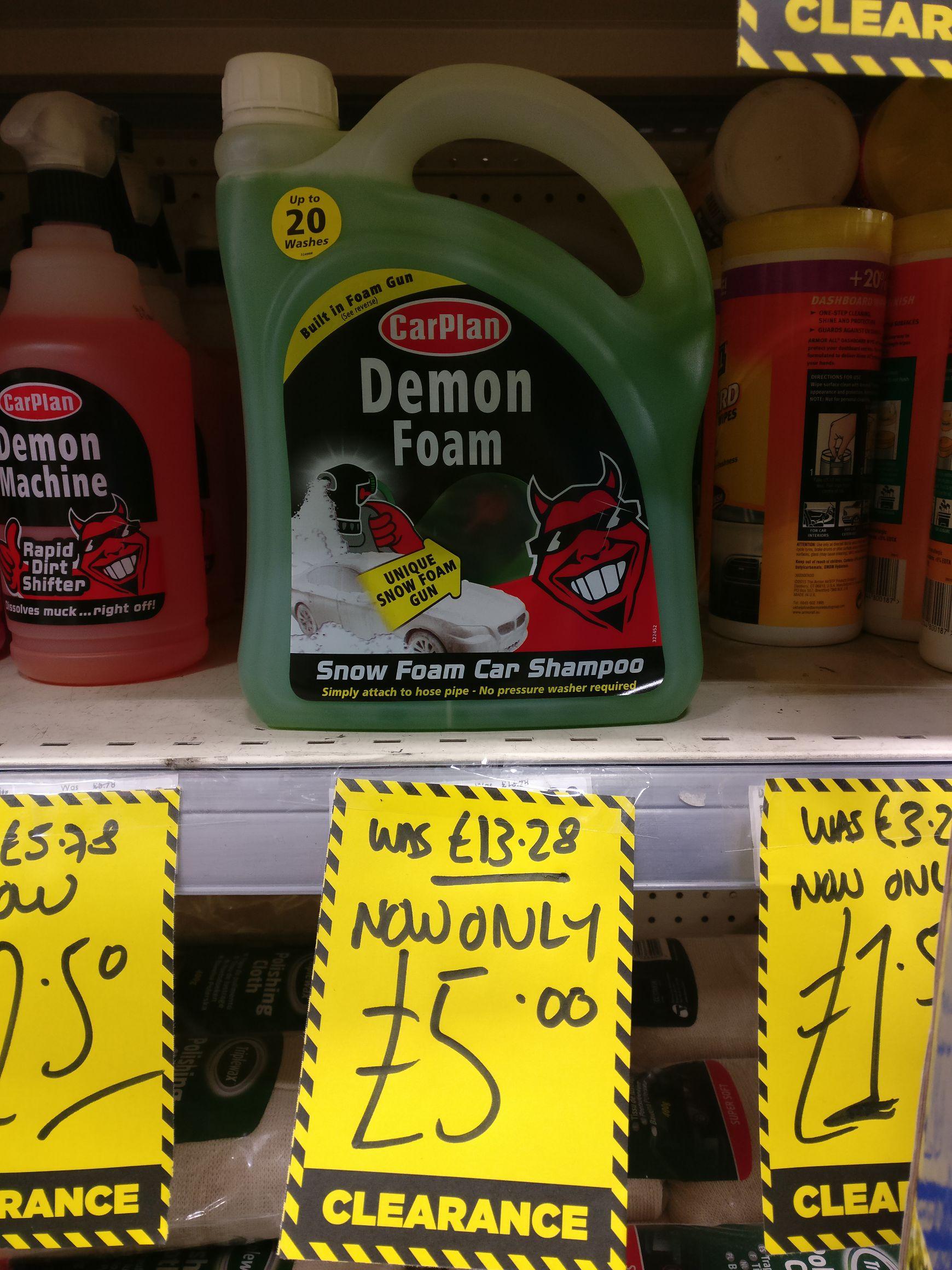 Demon Foam  Carwash 20 wash bottle with applicator £5 instore @ Homebase