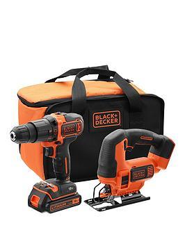 Black & Decker 18V Hammer Drill, 18V Jigsaw, Battery, Charger & Storage Bag £84.99 @ Very