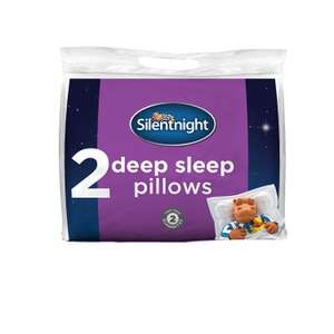 Silentnight Deep Sleep Pillow, White, Pack of 2 £8.99 From alternative seller, just scroll down the page. Amazon Prime. Update: OOS but still available to pre order.