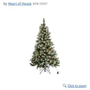 6 ft pre-lit snow tipped christmas tree £49.99 @ Argos