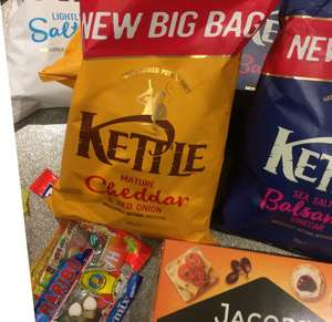 Kettle chips sharing bag 2.50p  @ Tesco (£1.50 in morrisons so they will brand match and there is also£1.00 back on checkout smart!