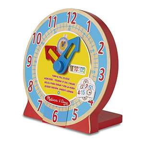 Melissa & Doug Turn & Tell Wooden Clock - Educational Toy @ £6 Amazon (Prime / £8.99 non Prime)
