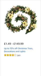 amazon up to 70% off christmas decorations and trees