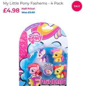 My little pony Fashems (mostly to pick up in store) £4.98 @ Toys R Us