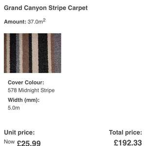 carpet price!!!! should be £26, but it's £5 on website at ScS