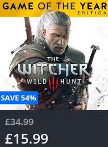 The Witcher 3: Wild Hunt – Game of the Year Edition at PSN for £15.99