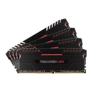 Corsair Vengeance Red LED 32GB DDR4 3000mhz Memory Kit 4x 8GB for £293.99 @ Scan