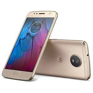 "Moto G5S Smartphone, Android, 5.2"", 4G LTE, Exclusive Dual SIM, SIM Free, 32GB, Fine Gold at John Lewis for £179"