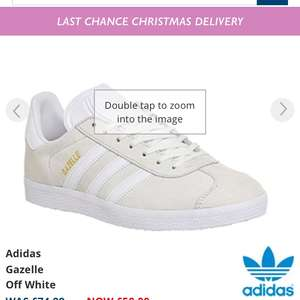 Adidas gazelle trainers in Office now £50