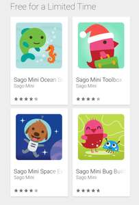 Sago mini favourites free for a limited time on Google Play