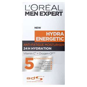 L'Oreal Men Expert Hydra Energetic Anti Fatigue Moisturiser 50Ml at Tesco for £4
