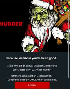 Shudder video streaming channel (On amazon) only 2.39