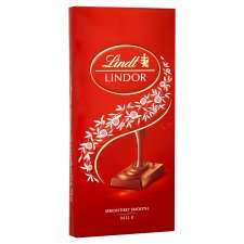 Lindt Lindor Milk Chocolate Bar 100G@ Tesco