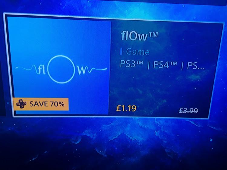 flOw PS4 PS3 vita