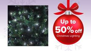 50% off Xmas lights and free £5 voucher with £10 spend @ Maplin