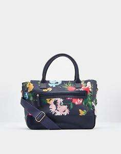 Joules Day To Day Printed Canvas Shoulder Bag in French Navy Posy, free C+C. Alleged RRP was £54.95, @ Joules eBay